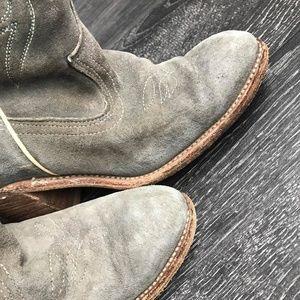 Acme Vintage Grey Suede Cowboy Western